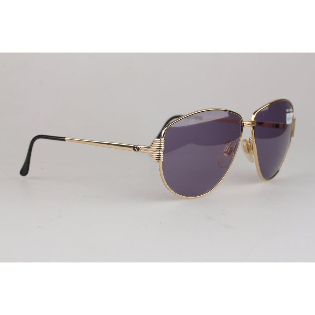 Vintage Gold 1990s Womens Sunglasses V608 60mm