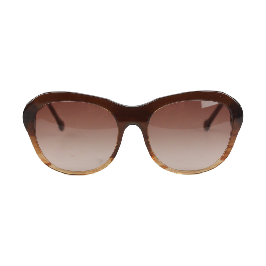 EM Brown Sunglasses Handmade in Italy Oversize Mod. Lucia 02 58mm
