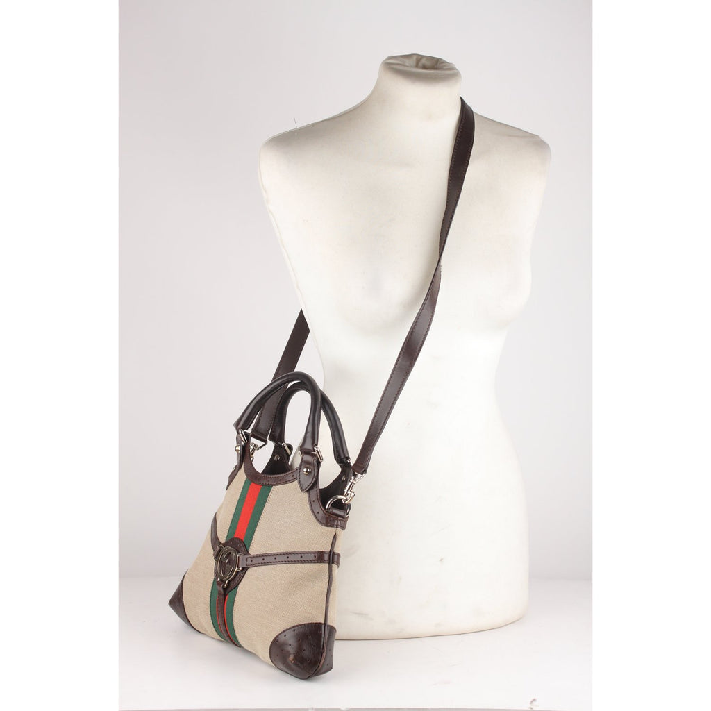 Reins Hobo Bag Tote with Stripes