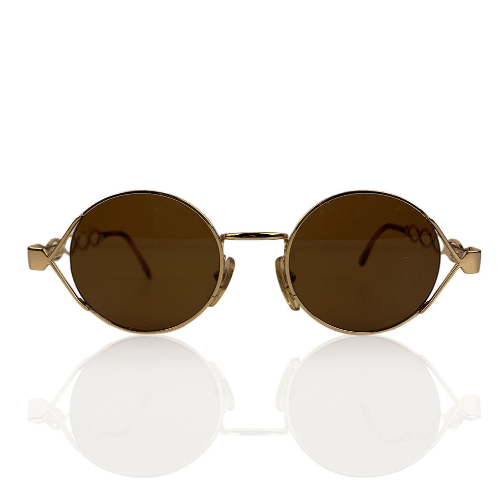 Moschino by Persol Vintage Gold Round Unisex Mint Sunglasses Mod MM264 - OPHERTY & CIOCCI