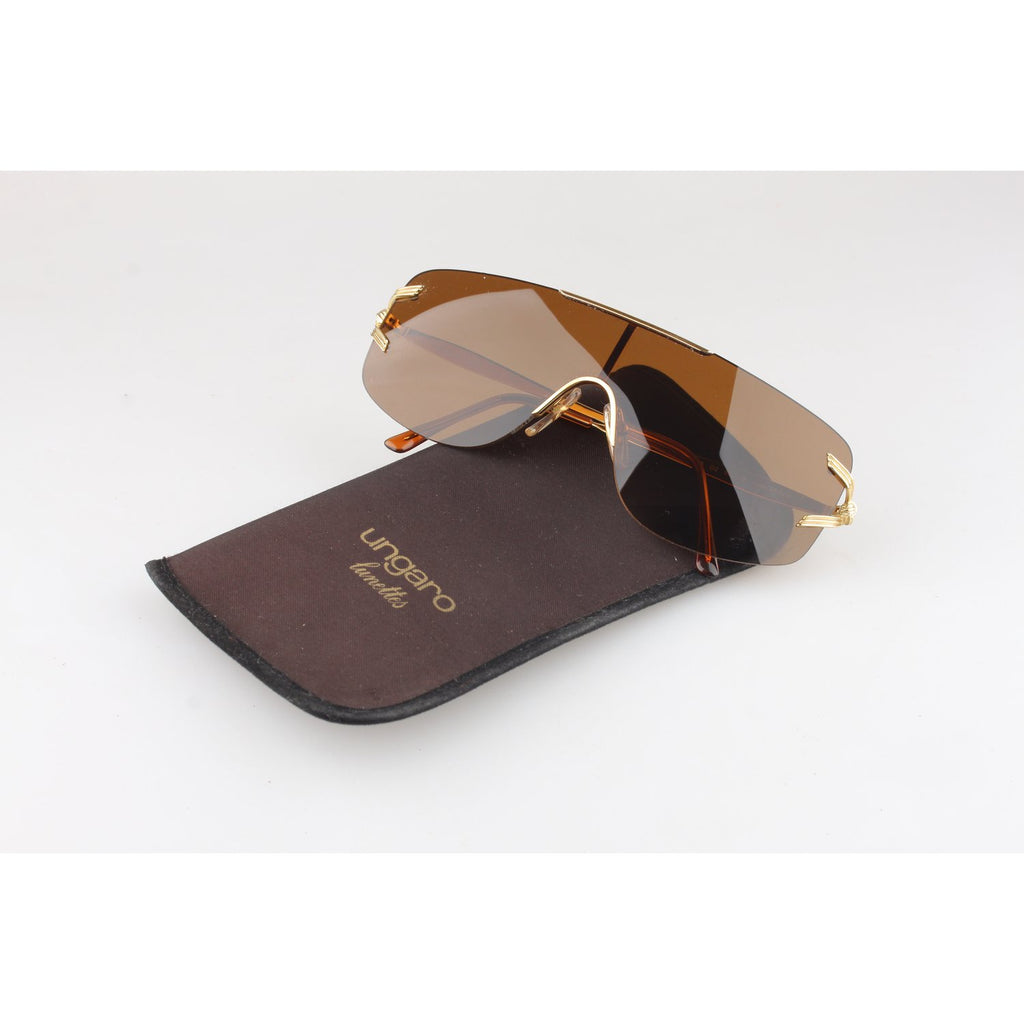 Persol Vintage Sunglasses Unisex Gold Shades Mod. U464 135mm wide