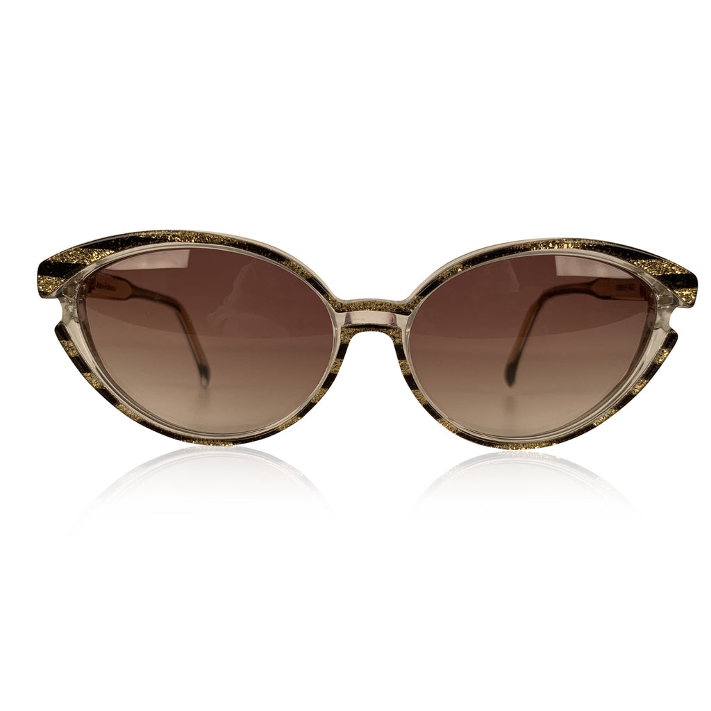 Yves Saint Laurent Vintage Sunglasses 8316 P 42 Striped Gold Glitter - OPHERTY & CIOCCI