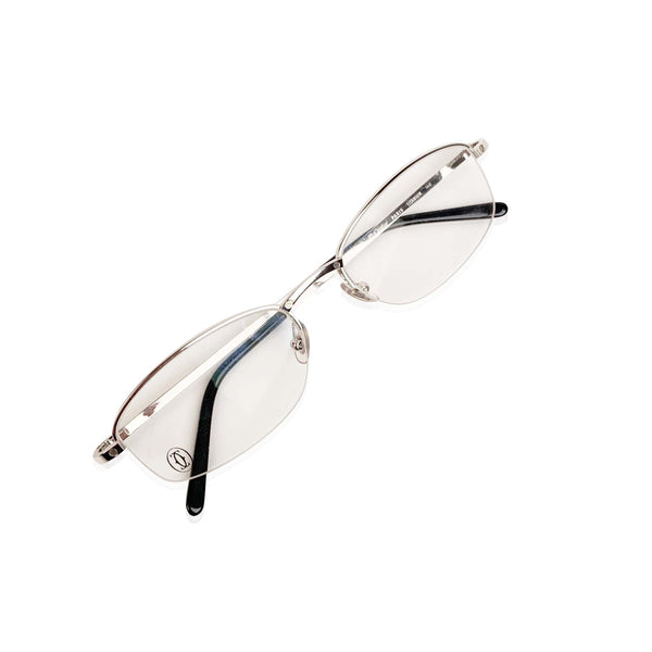 Cartier Paris Mint Unisex Half Rim Eyeglasses T8100611 53-19 140mm