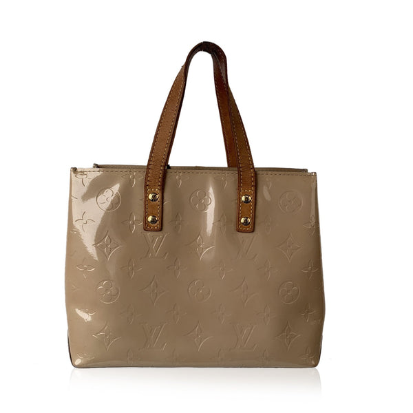 Louis Vuitton Beige Monogram Cuir Vernis Reade PM Tote Bag