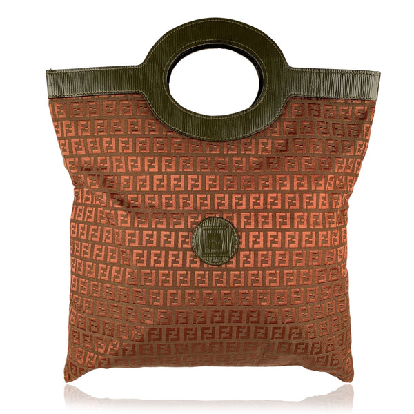 Fendi Vintage Brown Monogram Canvas Shopping Bag Tote