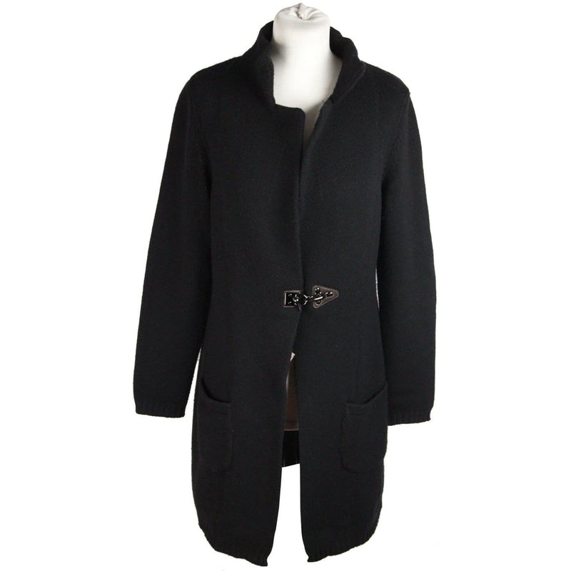 Fay Tods Black Wool & Cashmere Cardigan Coat Size M Opherty & Ciocci