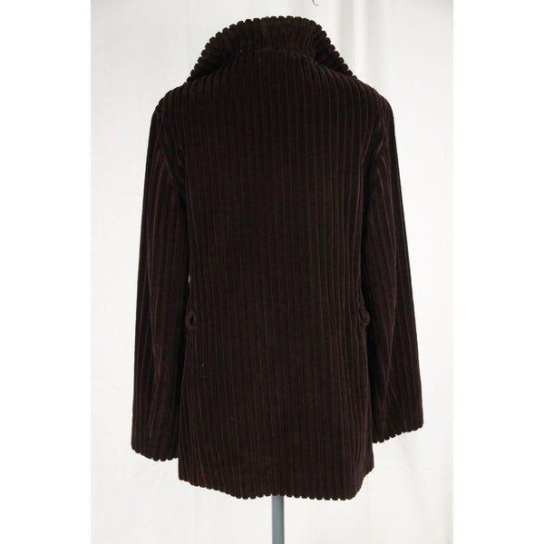 FAY TODS Brown RIBBED Cotton Velvet JACKET Size M
