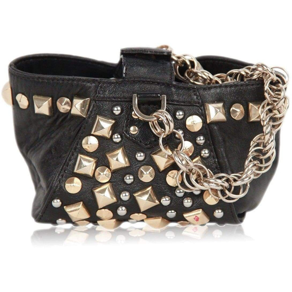 Versace For H&M Limited Edition Black Leather Studded Mini Bag