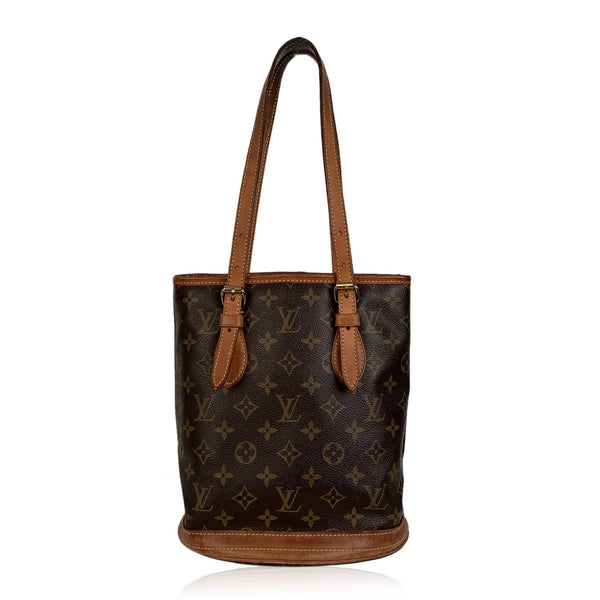 Louis Vuitton Monogram Canvas Bucket PM Tote Shoulder Bag