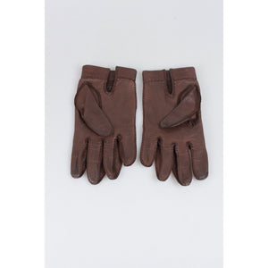 Hermes Leather Women Gloves Size 6.5