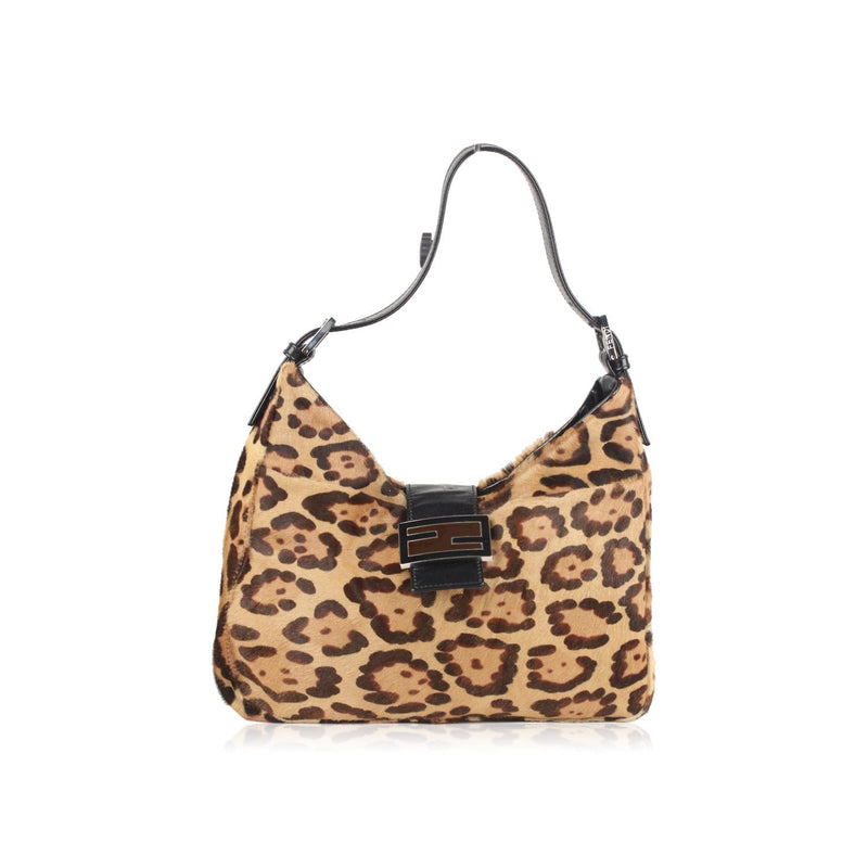 Fendi Animalier Pony Hair Hobo Shoulder Bag Tote Opherty & Ciocci