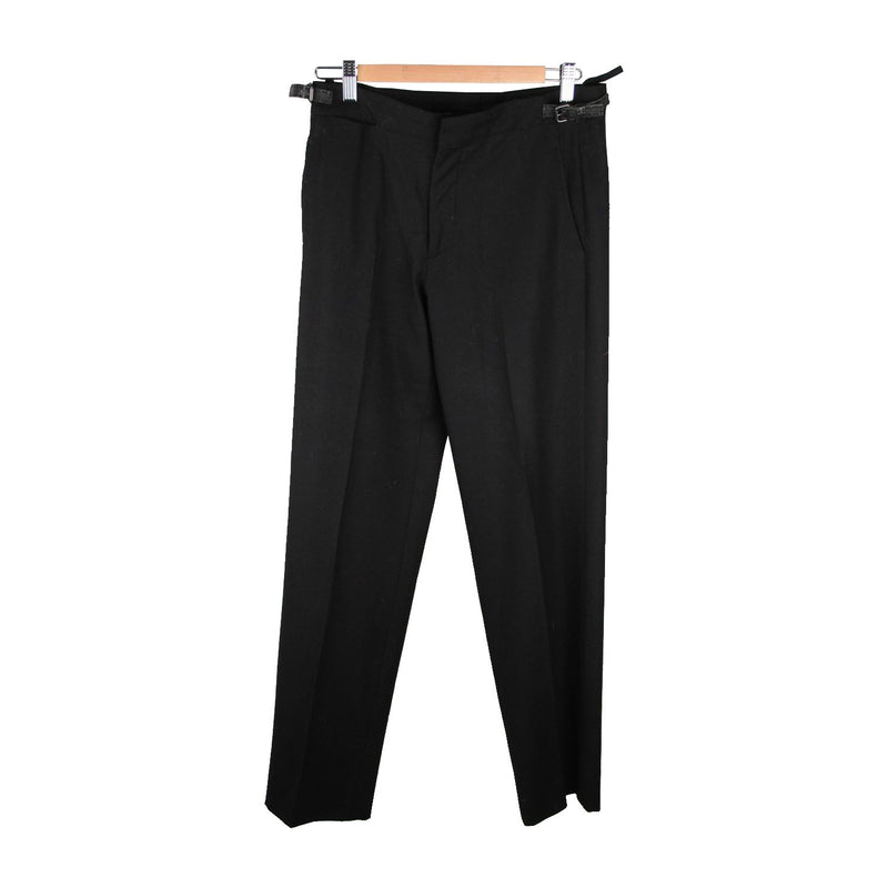 FENDI Black Virgin Wool PANTS Trousers SIZE 46