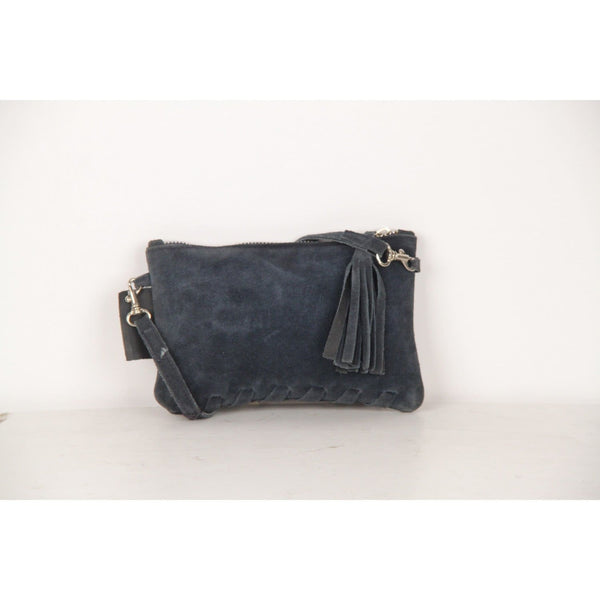 Fendissime Fendi Vintage Blue Suede Small Crossbody Bag Pouch Opherty & Ciocci