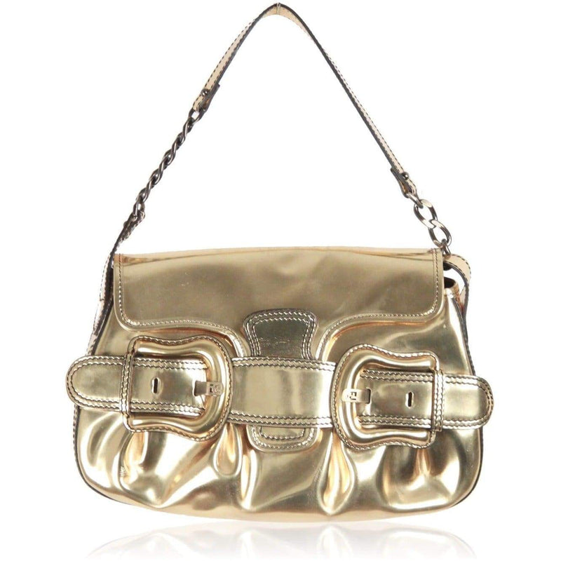 Fendi Gold Tone Leather B Bis Bag Shoulder Bag Opherty & Ciocci