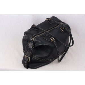 Fendi Selleria Black Leather Shoulder Bag Opherty & Ciocci