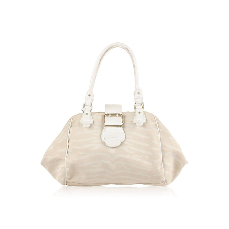 Zebra Canvas Tote Shoulder Bag Opherty & Ciocci