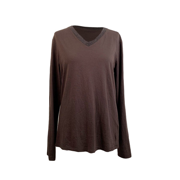 Miu Miu Brown Wool Blend Long Sleeve Jumper Size L