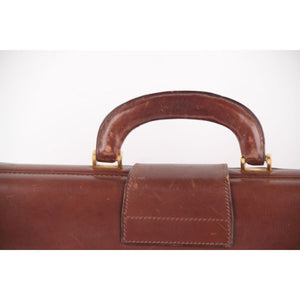 Franzi Vintage Brown Leather Briefcase Work Bag Handbag Made In Italy Opherty & Ciocci
