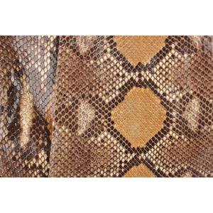 Snakeskin Tote With Lucite Handle Opherty & Ciocci