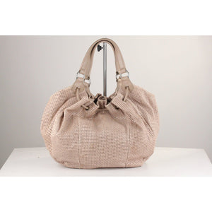 Perforated Leather Drawstring Tote Opherty & Ciocci