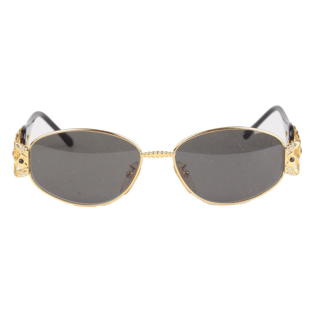 Galitzine Gold Metal Black G 02 Col 1 Sunglasses With Rhinestones 57Mm Opherty & Ciocci