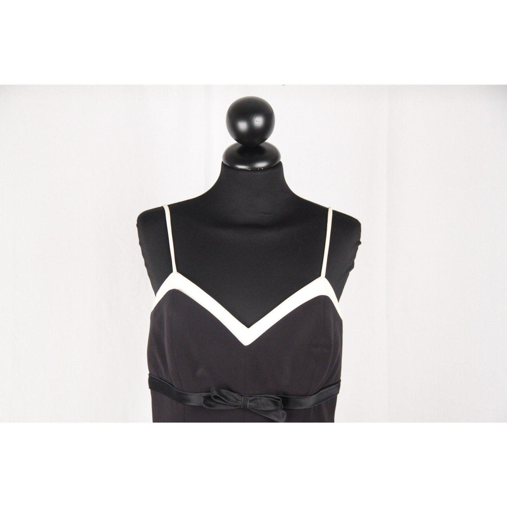 Gattinoni Vintage Black & White Skater Dress Sleeveless Size 44 Opherty & Ciocci