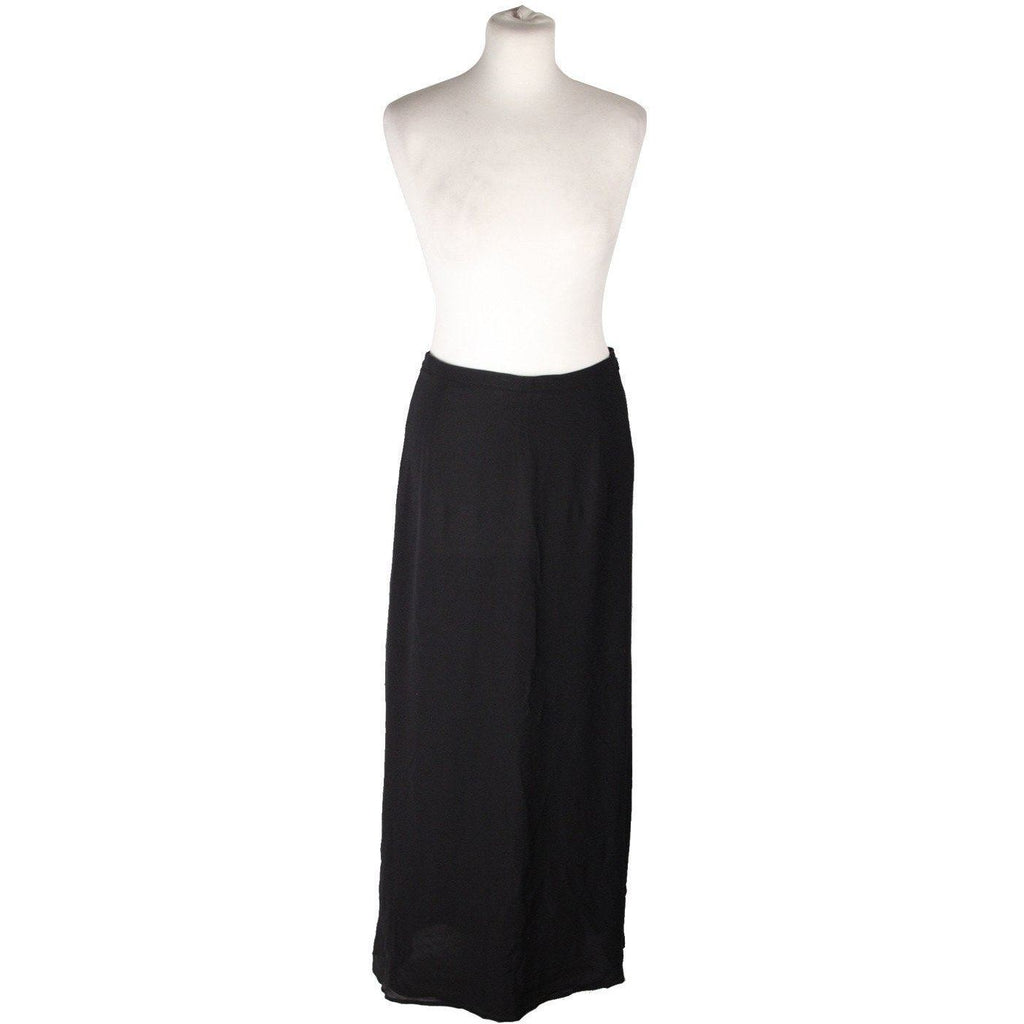 Genny Oro Black Pure Silk Maxi Long Evening Skirt Size 42 Opherty & Ciocci