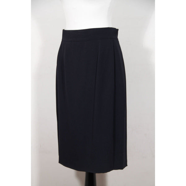 Genny Vintage Navy Blue Suit Blazer & Pencil Skirt Set Size 42 Opherty & Ciocci