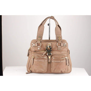 Taupe Leather Double B Bag Opherty & Ciocci