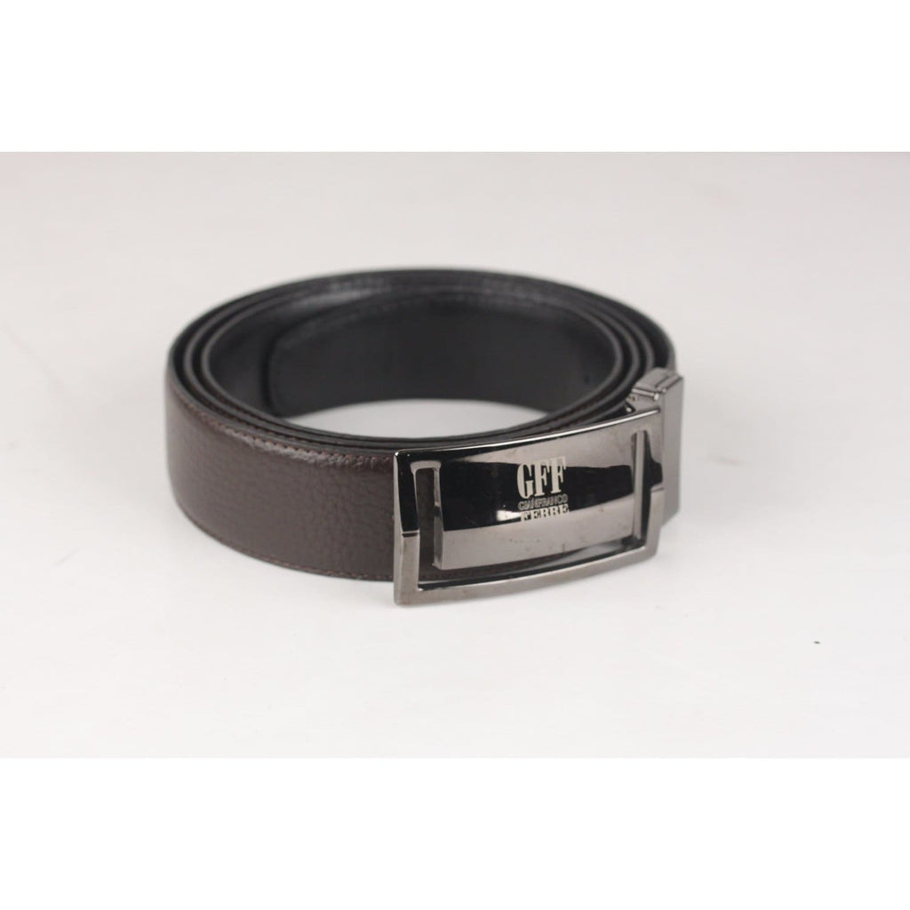 Belt With Gun Metal Buckle Size 110/125 Opherty & Ciocci