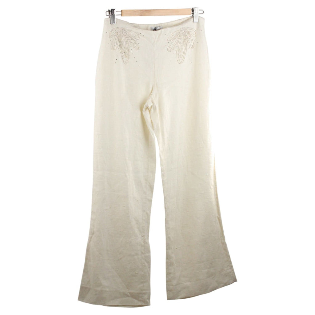 Linen Wide Leg Trousers Pants Opherty & Ciocci