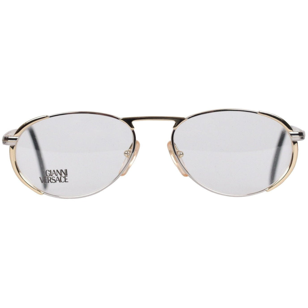 GIANNI VERSACE Oval Gold Metal FRAME Eyeglass MOD. V 04 – OPHERTY ...