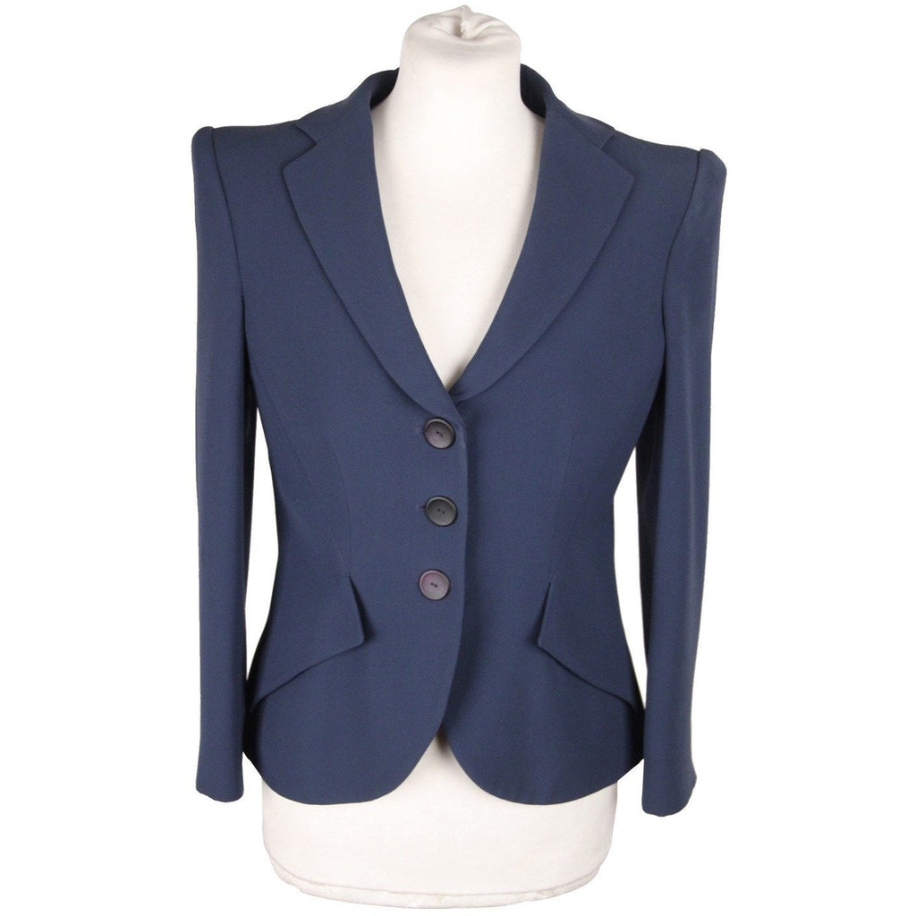 GIORGIO ARMANI BLACK LABEL Blue Silk BLAZER Jacket SIZE 40