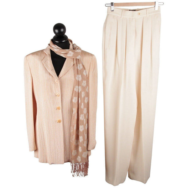 Giorgio Armani Black Label Peach Women Suit Blazer & Wide Trousers Opherty Ciocci