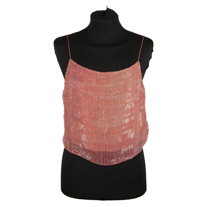 Giorgio Armani Black Label Pink Beaded Cami Top Opherty & Ciocci