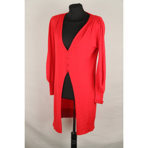 GIORGIO ARMANI BLACK LABEL Red Cashmere Blend LONG CARDIGAN Size 42