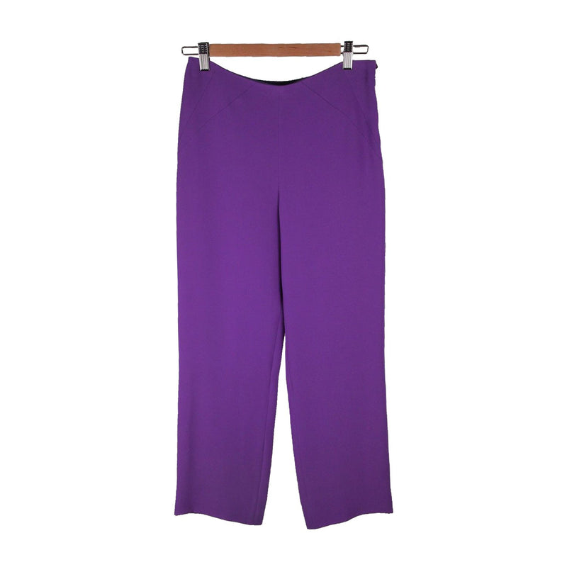 GIORGIO ARMANI Purple Silk Wide Leg PANTS Trousers SIZE 38