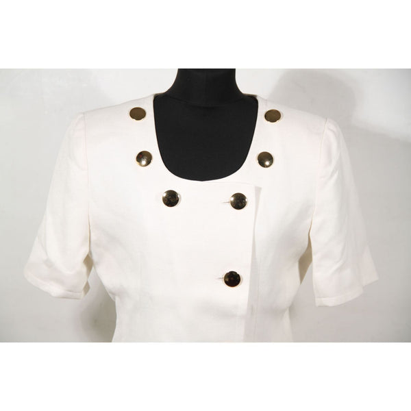 GIVENCHY LIFE VINTAGE White SUIT Blazer Jacket And Skirt SET