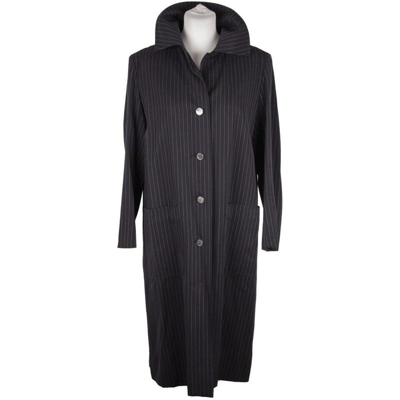GIVENCHY NOUVELLE BOUTIQUE Vintage Blue Pinstriped CLASSIC COAT