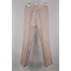 Gucci Beige Linen & Silk Flared Trousers Pants Size 42 Opherty Ciocci