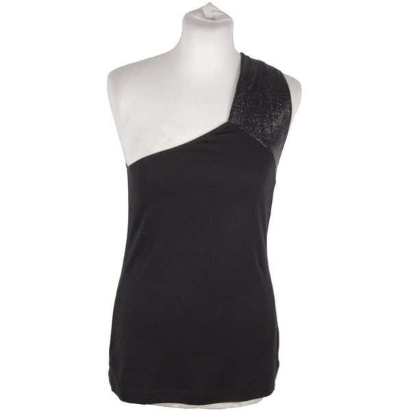 Gucci Black Cotton One Shoulder Top Size S Opherty & Ciocci