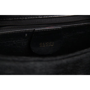 Gucci Black Pony Hair & Leather Handbag Shoulder Bag Opherty & Ciocci