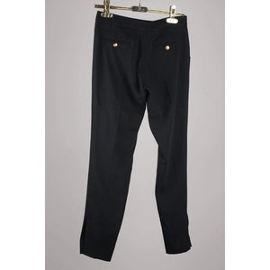Black Trousers Pants With Buttons Opherty & Ciocci