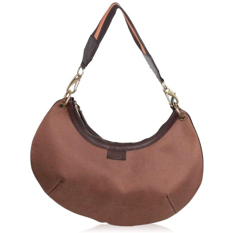 Gucci Brown Canvas Halfmoon Hobo Shoulder Bag Opherty & Ciocci