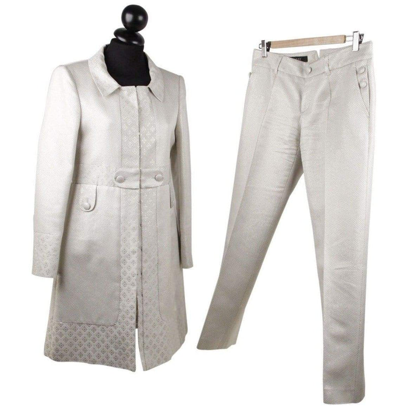 Jacquard Coat Jacket And Pants Suit It Size 40 Opherty & Ciocci