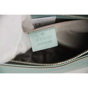 Gucci Light Blue Microguccissima Leather Shoulder Bag Opherty & Ciocci