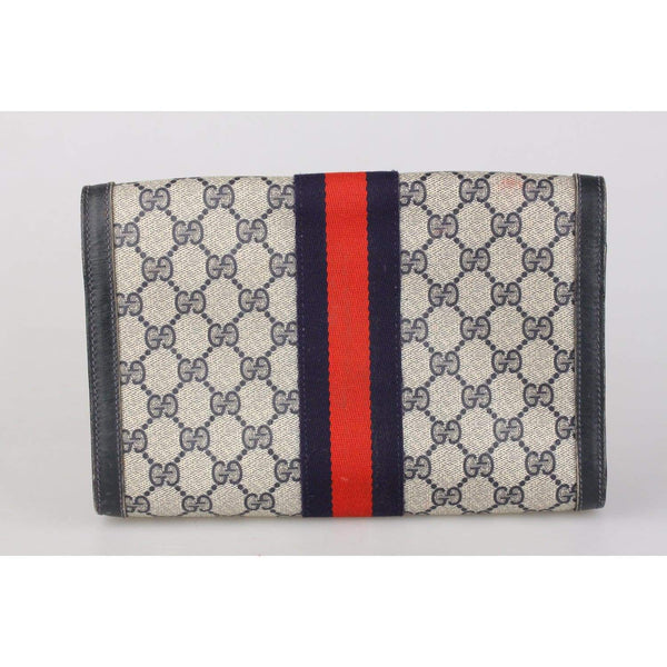 Monogram Canvas Flap Cosmetic Bag Opherty & Ciocci
