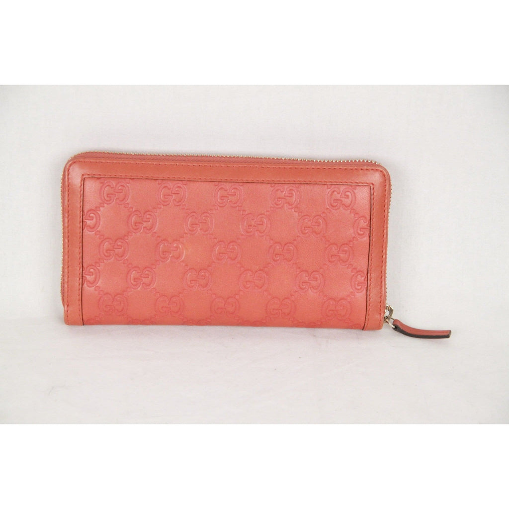 Gucci Orange Guccissima Leather Sukey Continental Zip Wallet Opherty & Ciocci