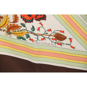 Vintage Silk Scarf Triangoli 1975 Accornero Opherty & Ciocci