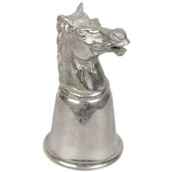 Gucci Vintage Silver Metal Horse Heads Cup Opherty & Ciocci
